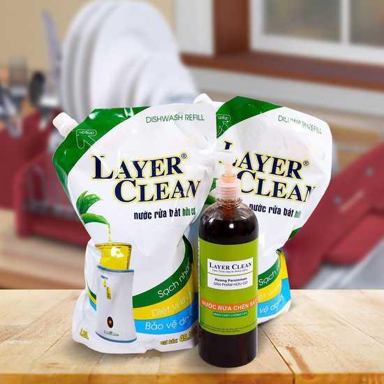 2 túi nước rửa bát hữu cơ 2L- Tặng 1 chai 800ml
