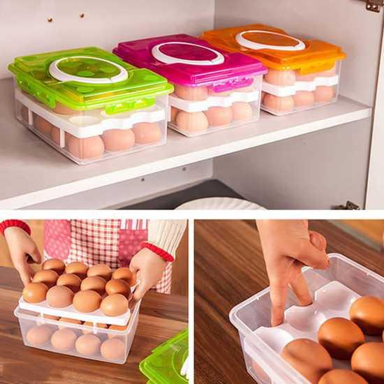 2 hộp đựng trứng 2 tầng
