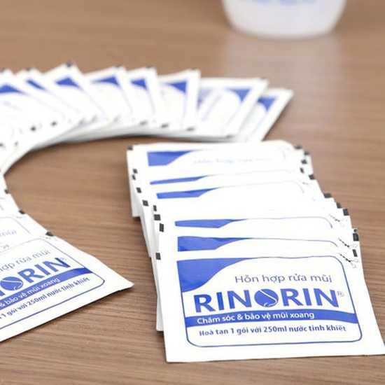 30 Gói muối rửa mũi Rinorin