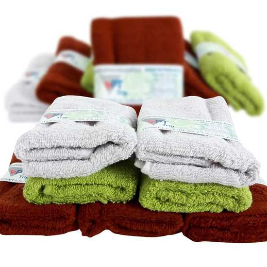 Combo 7 khăn mặt Thái Lan kháng khuẩn 100% cotton