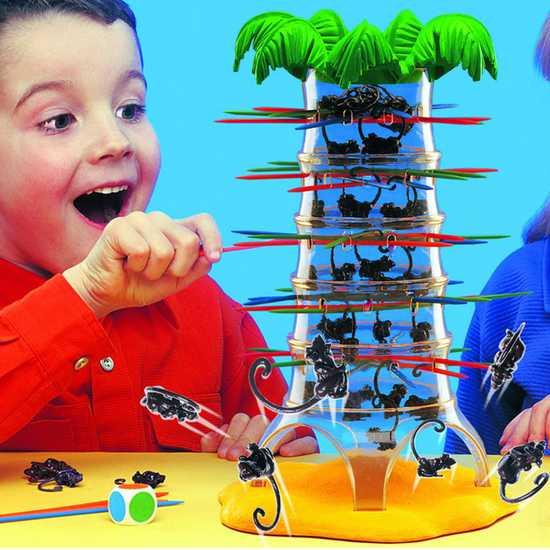 Bùng nổ với bộ trò chơi rút khỉ Falling Monkeys
