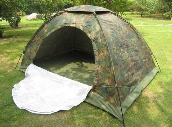 Lều cắm trại vải dù rằn ri