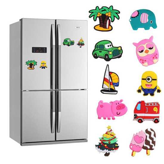Bộ 10 nam châm dán tủ lạnh silicon ngộ nghĩnh