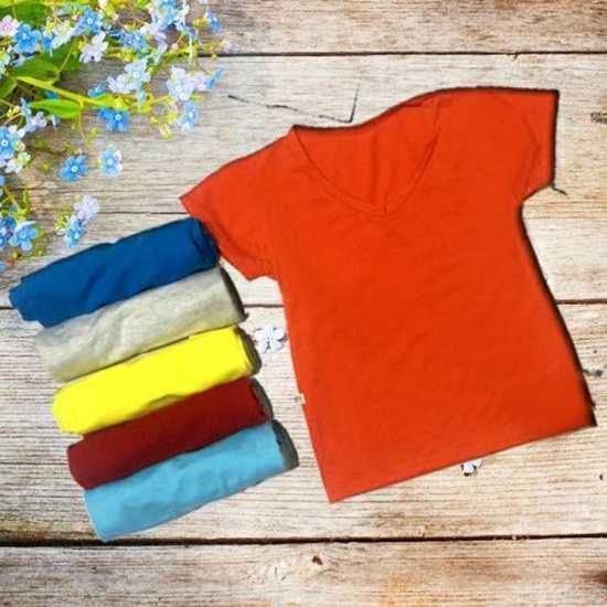 Combo sáu áo thun nhiều màu C6QATE54 cho bé trai và bé gái