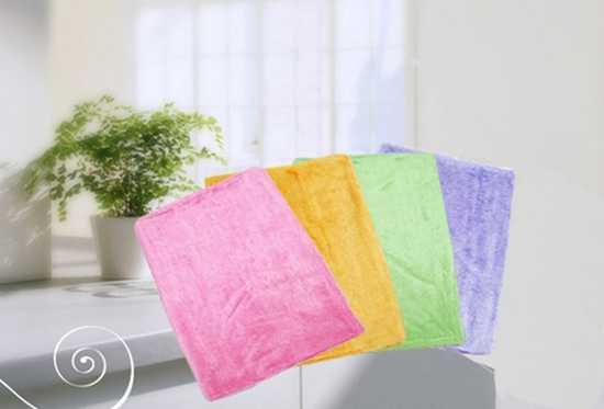 Bộ 04 khăn lau đa năng - Lau chùi dễ dàng mà không cần chất tẩy rửa, thấm hút tốt, độ bền cao - Chỉ với 32.500đ/cái