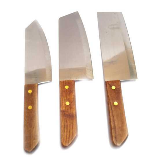 Bộ 3 dao làm bếp Mishop (Inox)