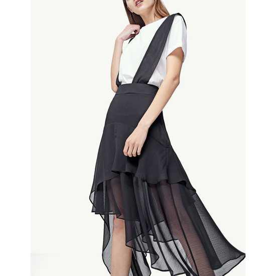AU574: Váy yếm voan hàng chính hãng STRADIVARIUS sale 50%