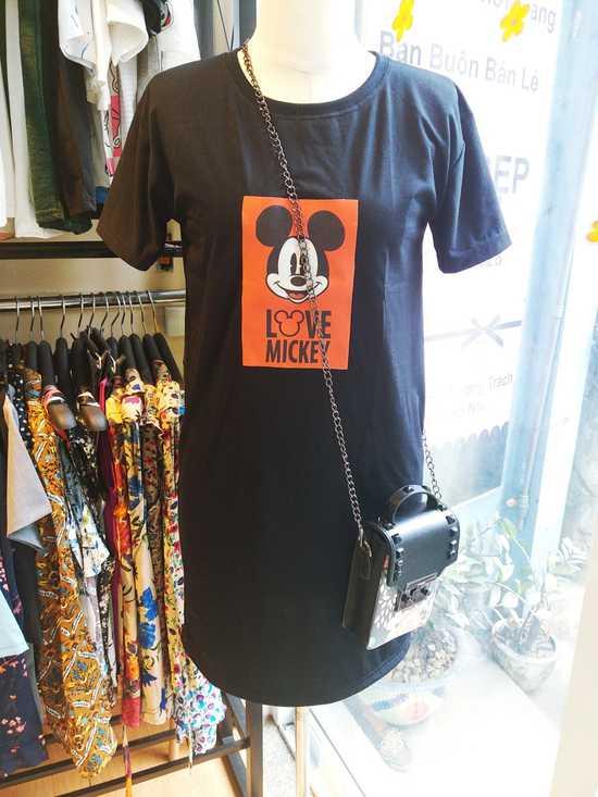 Đầm thun Mickey