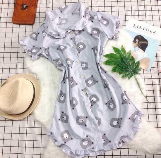 Đầm ngủ Kate gấu siêu dễ thương