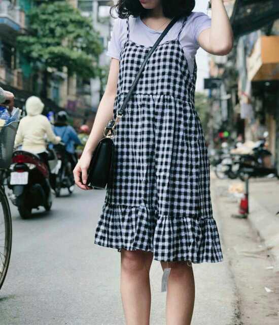 Set váy yếm (gồm áo v váy)