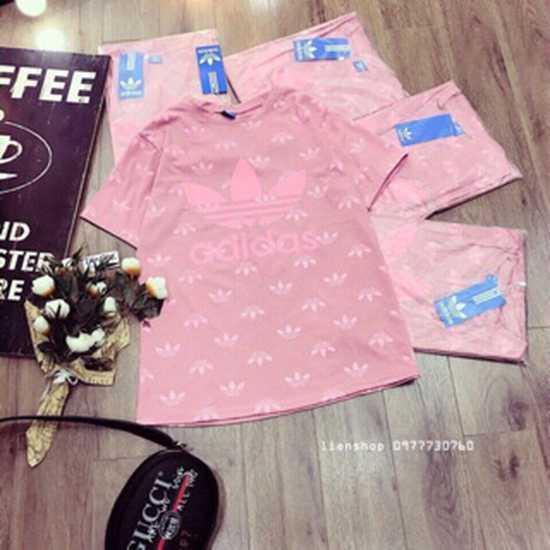 Áo adidass hồng