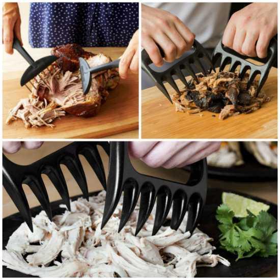Dụng cụ giữ xé thịt không lo bị bỏng
