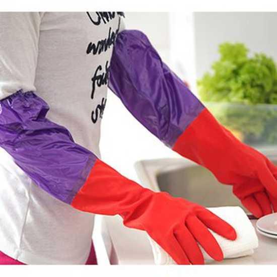 Combo 10 găng tay cao su lót nỉ