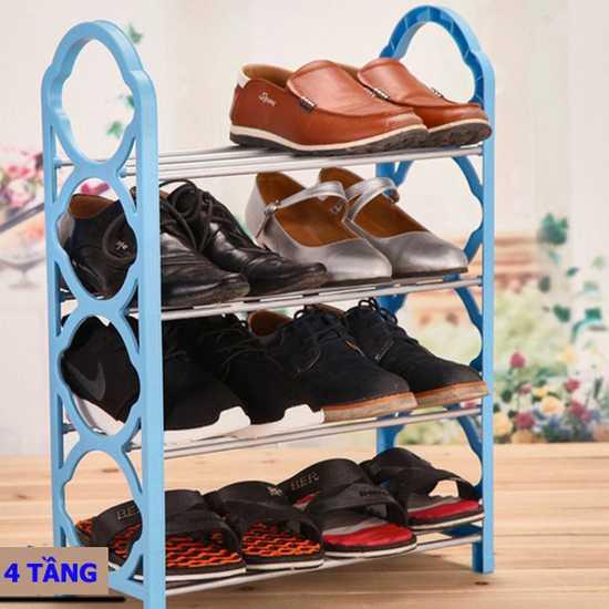 Kệ để giày dép lắp ghép 4 tầng - Cơ động, nhỏ gọn