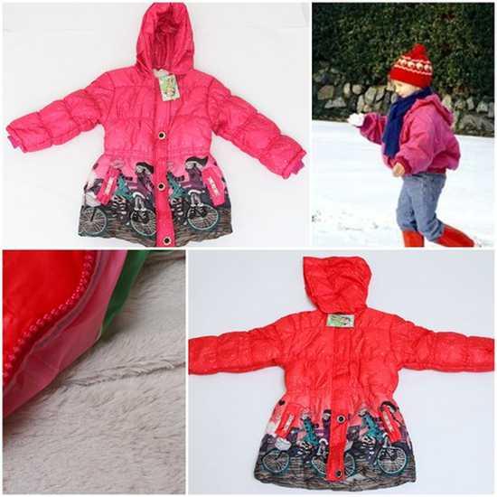 Áo phao lót lông ấm áp cho bé gái