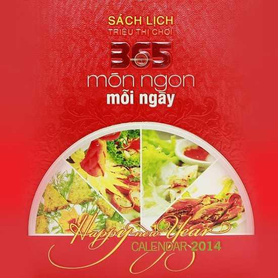 Sách lịch 365 món ăn AH04. Chỉ với 287.000đ