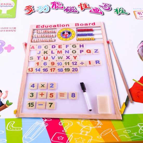 Bảng học đa năng 2 mặt cho bé đọc, viết, làm tính