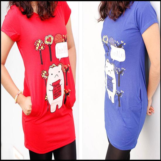 Năng động với áo thun form dài - Thiết kế trẻ trung và cá tính cho bạn gái - Chỉ 66.000đ/ 01 chiếc