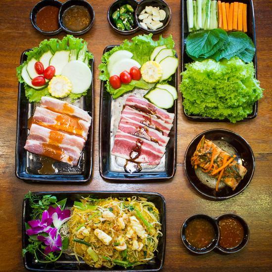 Set nướng + miến xào hải sản cho 2N - NH Seoulviet