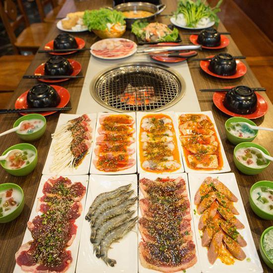 Set nướng lẩu 6 người- Nhà hàng Thái BBQ Time City