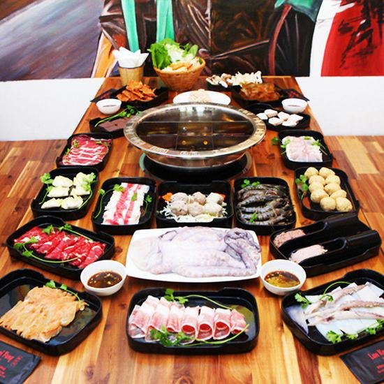 Buffet trưa lẩu Hồng Kông tại NH Lan Kwai Fong