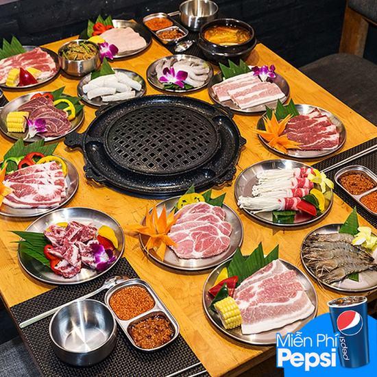 Thưởng thức Buffet Nướng Thả Ga Tại BBQ Plus Times City - Free Pepsi