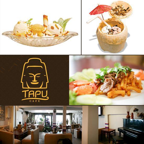 Set ăn 1 phần kem + 1 phần thức ăn tự chọn dành cho 01 - 02 người tại Cà Phê Tapu - Chỉ 55.000đ