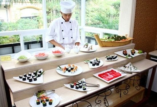Thưởng thức Buffet trưa và tối với gần 100 món ăn đến từ Việt Nam và các nước trên thế giới tại Buffet Sen Tràng An - Chỉ với 179.000đ