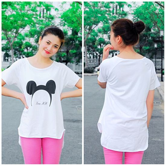 Áo thun hình chuột Mickey form rộng năng động cho nữ - Chỉ 95.000đ/01 chiếc