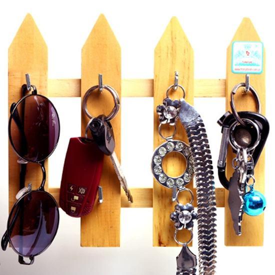 Combo 2 móc treo chìa khóa hàng rào gỗ