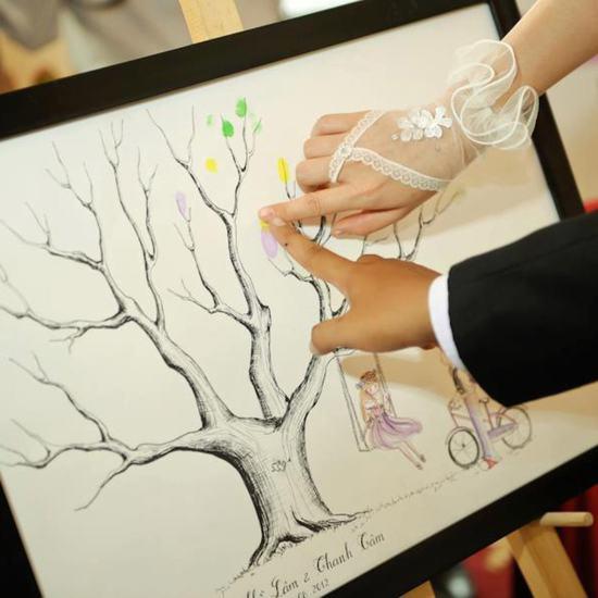 Phiếu mua tranh in dấu vân tay - Lưu giữ lại những khoảnh khắc đáng nhớ.