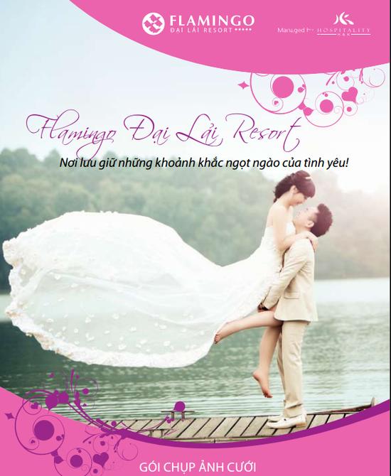 Chụp ảnh cưới tại Flamingo Đại lải resort