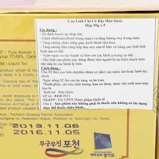 Cao linh chi Korean Lingzhi Extract Gold
