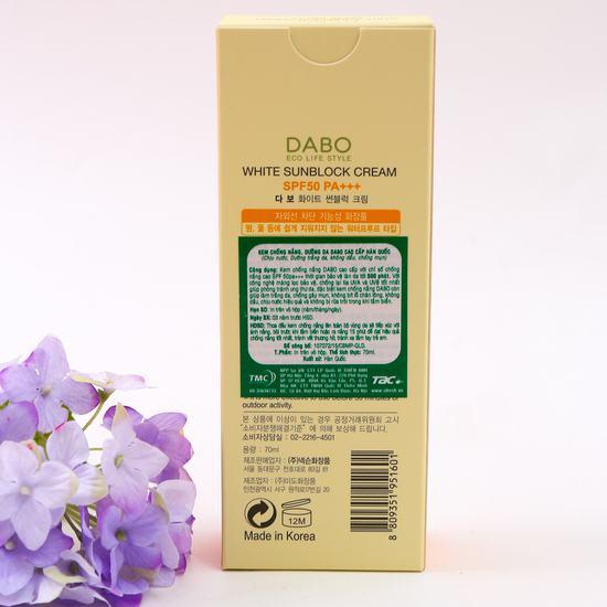 Kem chống nắng dưỡng da DABO cao cấp Hàn Quốc