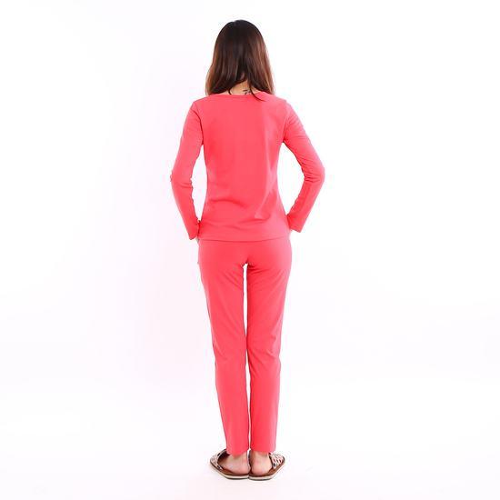 Bộ mặc nhà 100% cotton cổ V cách điệu