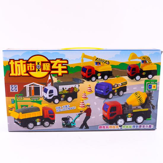 Bộ đồ chơi 6 xe công trình độc đáo cho bé yêu