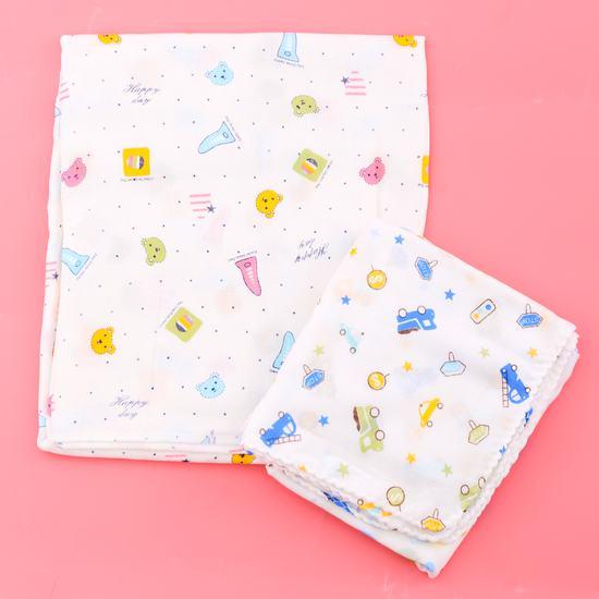 Combo 1 khăn tắm + 10 khăn xô họa tiết cho bé yêu