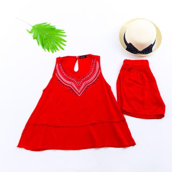 Combo 2 bộ lanh họa tiết thổ cẩm mặc nhà