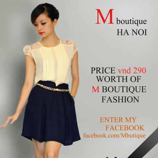 Voucher thời trang tại M-Boutique - Chỉ với 100.000đ được phiếu trị giá 300.000đ