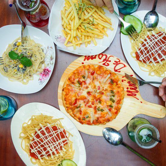 Set ăn mỳ Ý, pizza & đồ uống cho 2-3 người