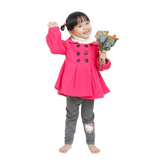 Áo khoác dạ 2 lớp dáng Hàn Quốc cho bé gái
