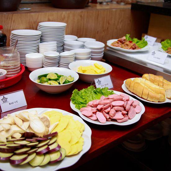 Buffet nướng + pepsi tươi Lẩu Hội Quán Hoàng Cầu