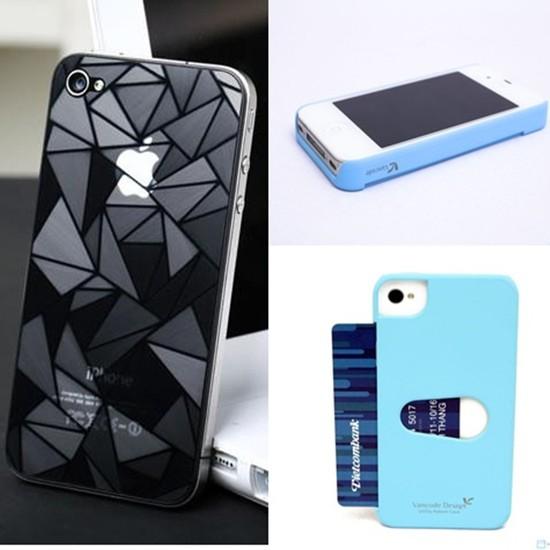 Combo ốp lưng và 2 miếng dán 3D cho iPhone 4/4s - Chỉ với 95.000đ