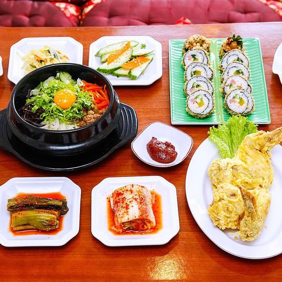 Kết quả hình ảnh cho Gimbap Chicken Korean Food