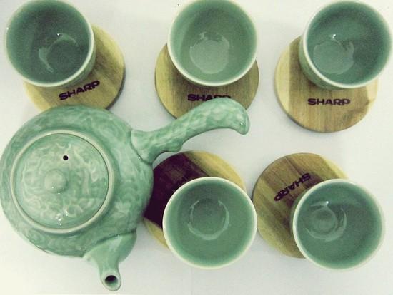 Bộ ấm trà men ngọc Hàn Quốc - quà tặng ý nghĩa cho ngày 20/11 - Chỉ 135.000đ/bộ