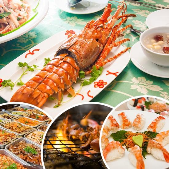 Buffet hải sản Happy Tôm - với hơn 70 món khác nhau - Chỉ 329.000đ/ 01 người