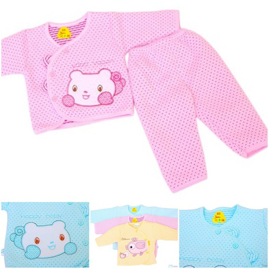 Bộ quần áo bông cho trẻ từ 0 - 9 tháng