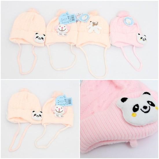 Mũ len hình thú có quai ấm áp cho bé
