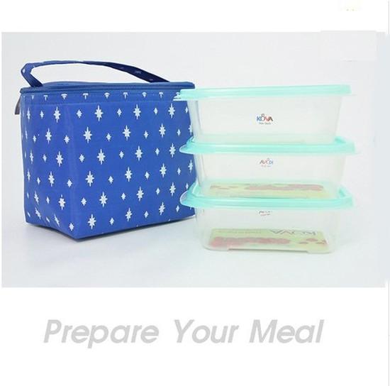 03 hộp nhựa Kova và Túi giữ nhiệt - Cho những bữa cơm trưa của bạn luôn nóng hổi - Chỉ 70.000đ/ 01 bộ