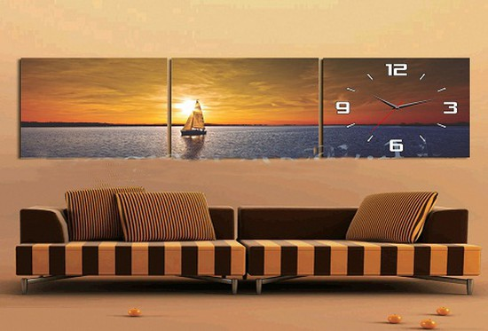 Bộ tranh đồng hồ treo tường - Vừa tiện dụng vừa làm đẹp cho không gian sống của bạn - Chỉ 240.000đ/ 01 bộ